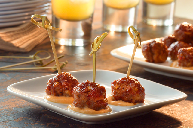 Barbecued Mini Meatballs Image 1