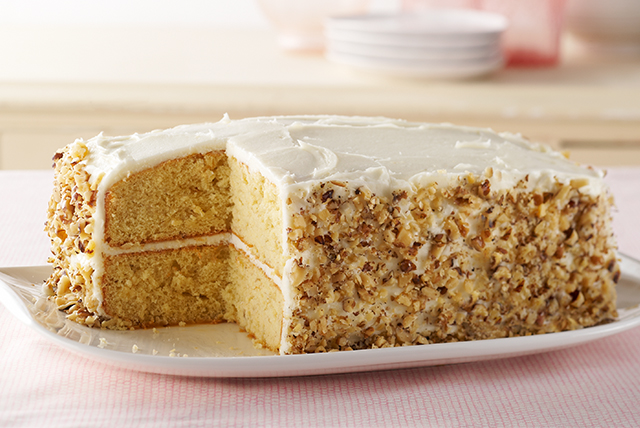 Banana-Sour Cream Cake Image 1