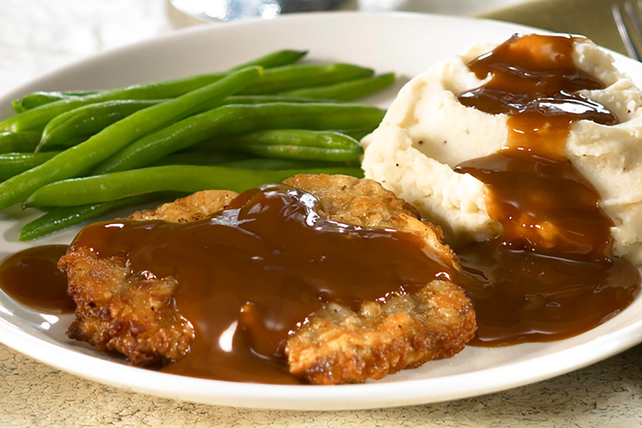 Chicken-Fried Steak with Beef Gravy Image 1