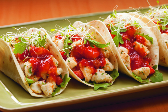 Easy Crab Tacos with Cocktail Sauce Image 1