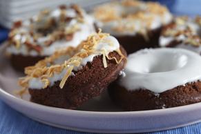 Glazed Chocolate Pudding Donuts Image 2
