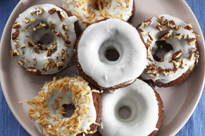 Glazed Chocolate Pudding Donuts