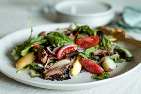 Grilled Meat and Potatoes Salad