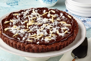 Coconut, Almond & Chocolate Brownie Tart
