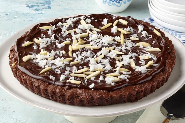 Tarte aux amandes, à la noix de coco et au fondant au chocolat Image 1