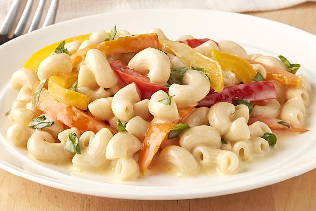 Macaroni et fromage aux poivrons tricolores Image 1