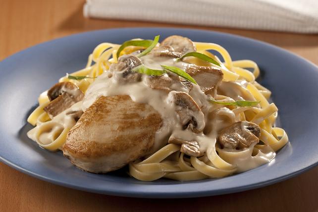 Mushroom-Chicken Alfredo Image 1