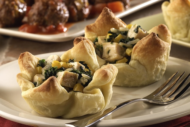 Chicken & Spinach Cups Image 1