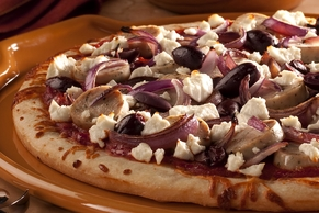 Mediterranean Pizza with Goat Cheese and Olives