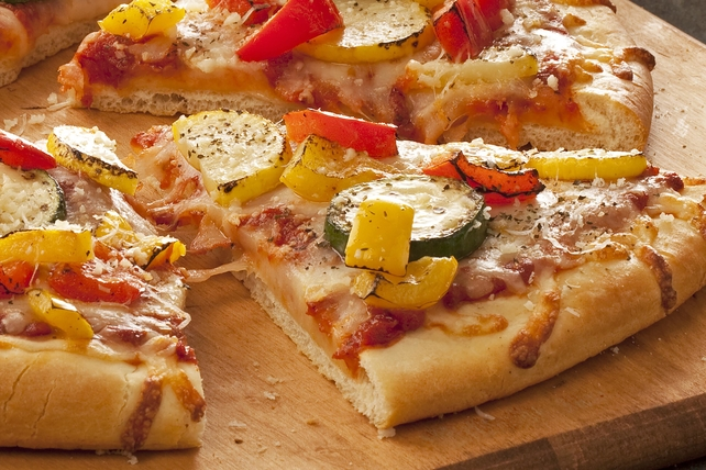 Colorful Roasted Vegetable Pizza Image 1