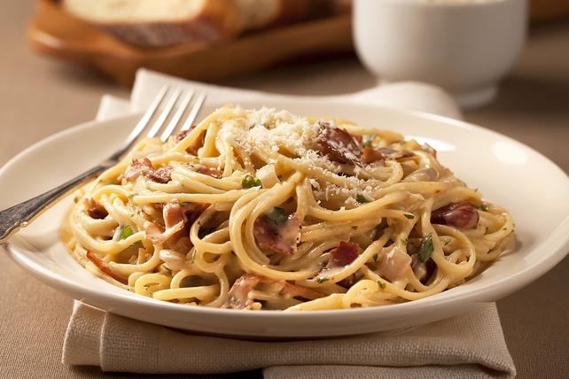 Creamy Spaghetti Carbonara Image 1