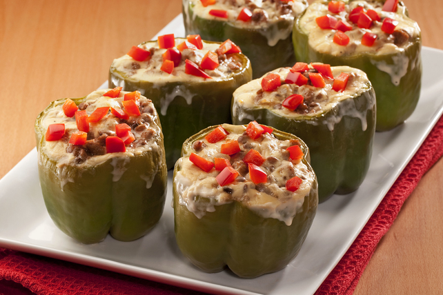 Turkey-and-Lentil Stuffed Green Peppers Image 1