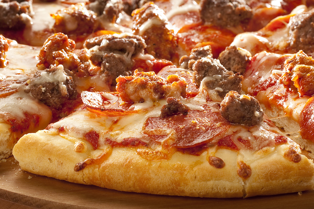 Savory Meat Pizza Image 1