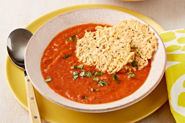 Soupe aux tomates rôties et au basilic Image 1