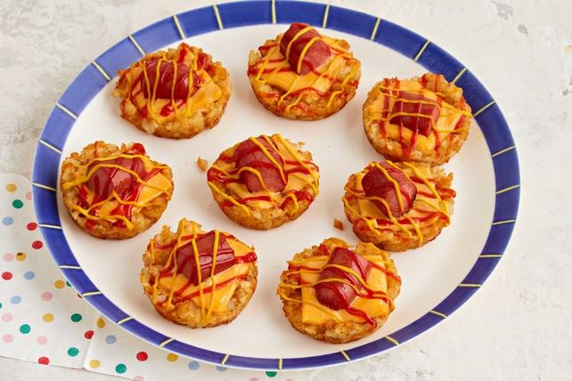 Bouchées de pommes de terre et de saucisse à hot dog Image 1