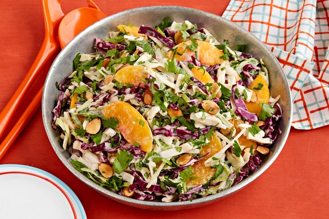 Easy Peach Coleslaw