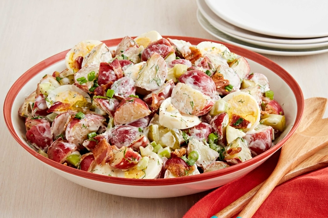 Dill Pickle Potato Salad with Bacon Image 1