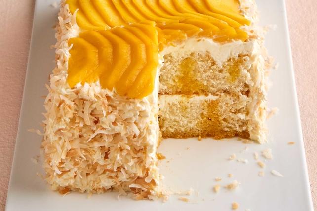 Mango-Coconut Poke Cake Image 1