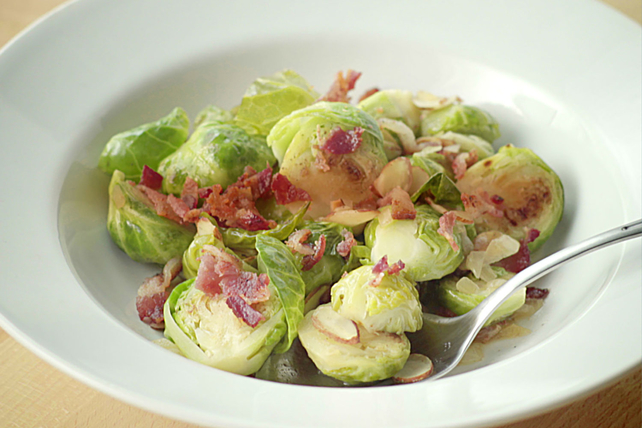 Brussels Sprouts with Bacon and Almonds Image 1