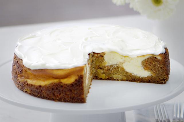 Gâteau au fromage aux carottes marbré Image 1
