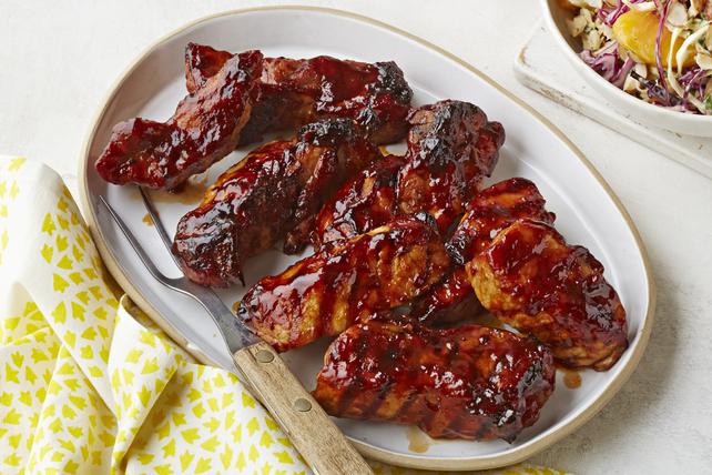 Côtes levées de porc barbecue à la paysanne Image 1