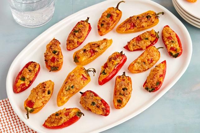 Chili con Queso-Stuffed Mini Peppers Image 1