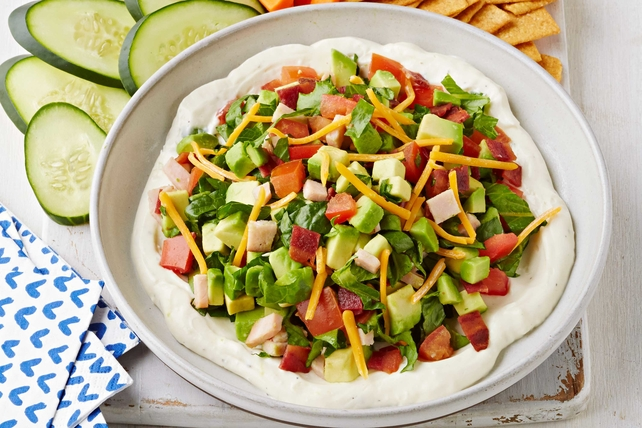 Deconstructed Turkey Cobb Salad Dip Image 1