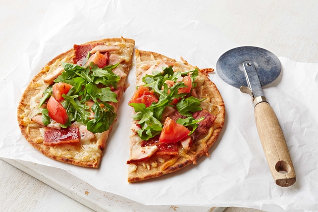 Bacon and Turkey Flatbread