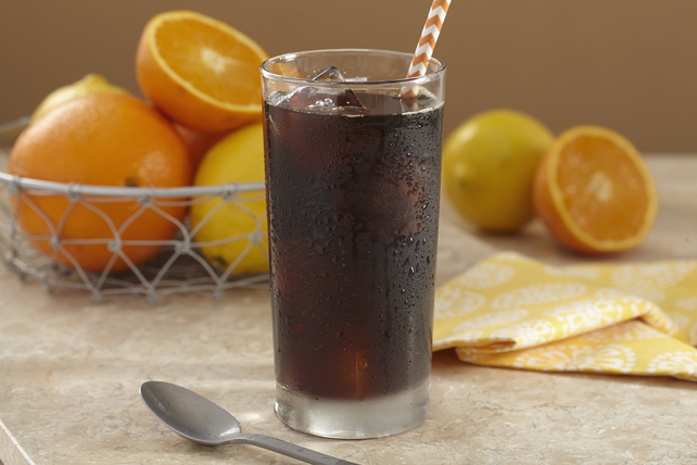 GEVALIA Cold Brew Sparkling Orange Iced Coffee Image 1