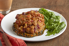 Turkey Meatloaf-Stuffed Acorn Squash Rings