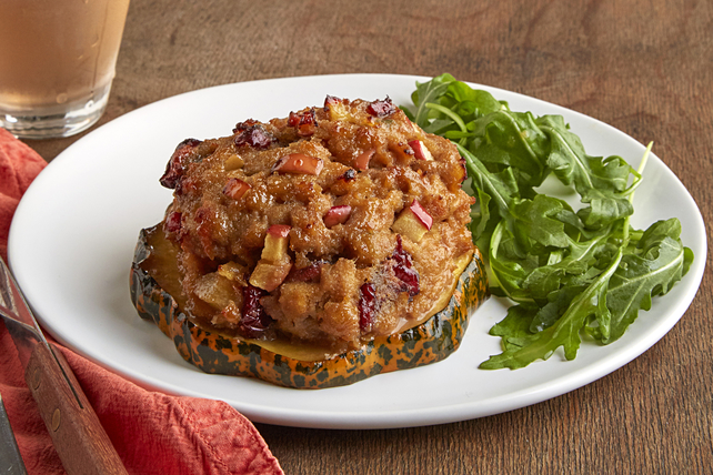 Turkey Meatloaf-Stuffed Acorn Squash Rings Image 1