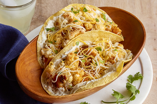 Tex-Mex Oven-Roasted Cauliflower Tacos Image 1