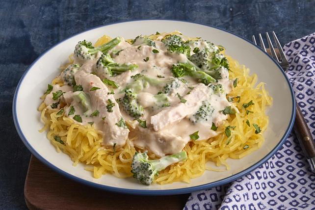 Chicken Alfredo with Spaghetti Squash Image 1