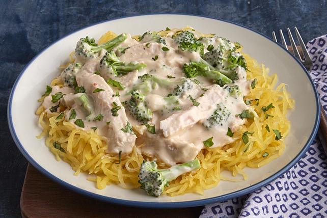 Poulet Alfredo avec courge spaghetti  Image 1