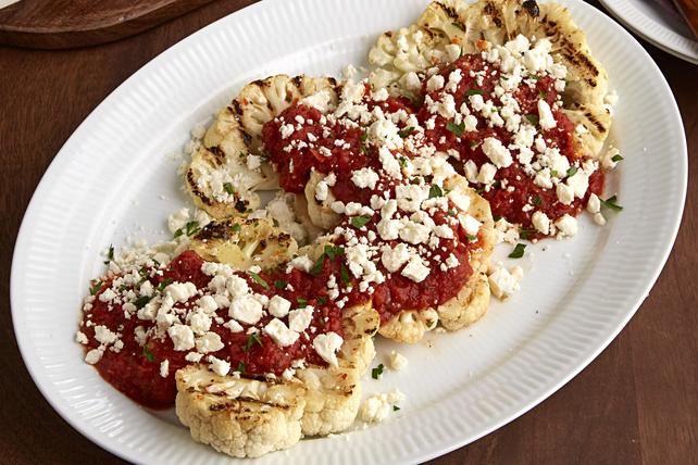"""Grilled Mediterranean Cauliflower """"Steaks"""" Image 1"""