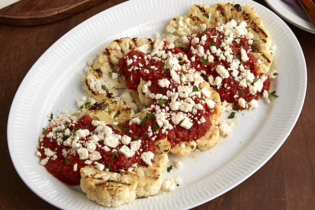 "Grilled Mediterranean Cauliflower ""Steaks"" Image 1"