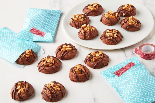 Brownie-Peanut Butter Thumbprint Cookies Image 1