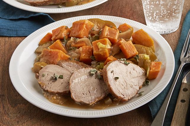 Filet de porc et pommes cuits à la mijoteuse Image 1