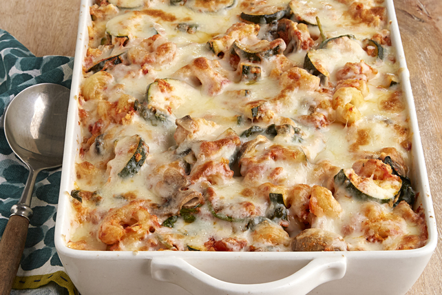 Creamy Zucchini and Spinach Pasta Bake Image 1