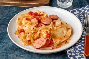 Slow-Cooker Kielbasa and Pierogi Casserole