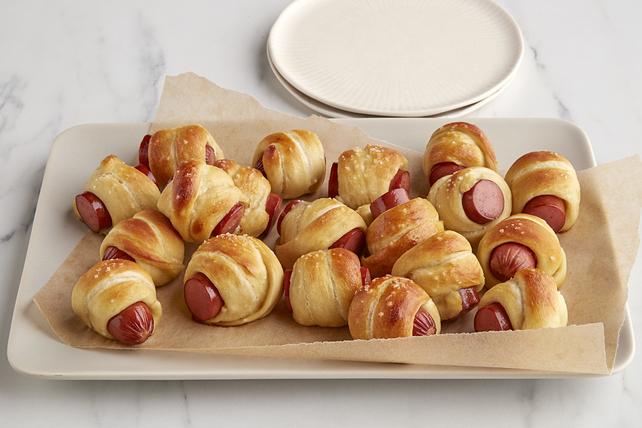 Hot dogs sur bretzels faits maison Image 1