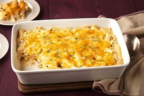 Creamy Chicken, Green Chile & Ziti Casserole