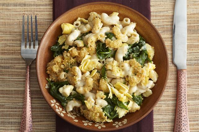 Macaroni et fromage aux épinards et aux artichauts Image 1