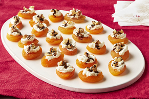 Cheese and Balsamic Apricot Bites