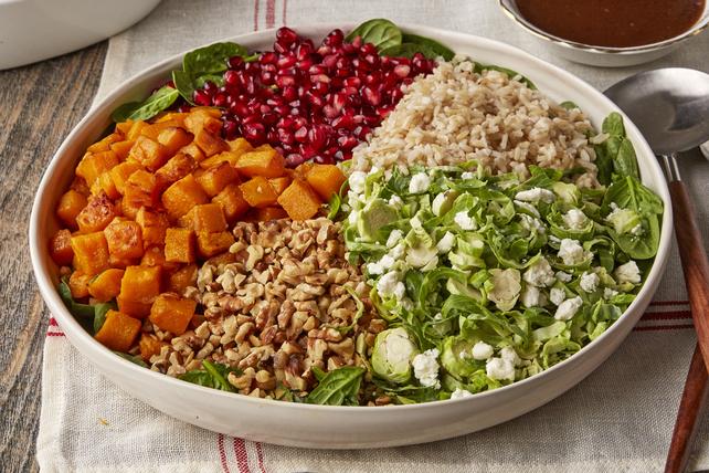 Salade de choux de Bruxelles, de courge et de riz Image 1