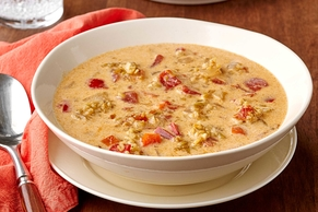 Spicy Vegetarian Freekeh Soup