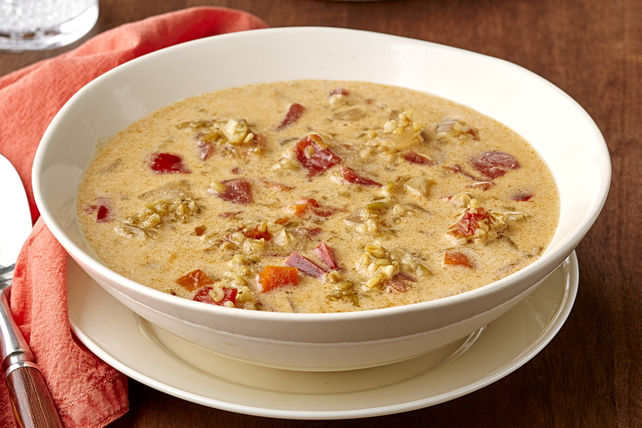 Spicy Vegetarian Freekeh Soup Image 1