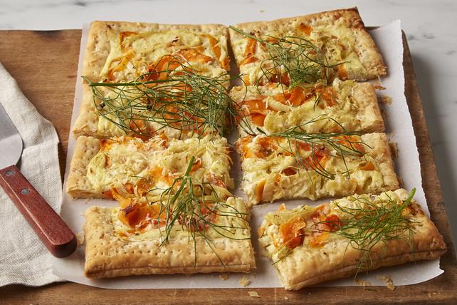 Tarte au fenouil et aux carottes rôtis Image 1