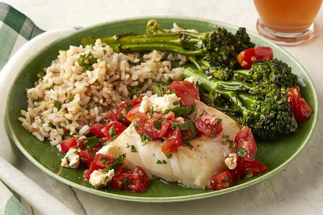 Morue avec tomates et broccolinis Image 1