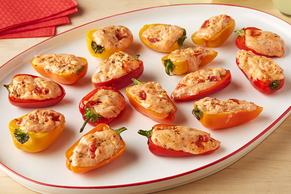 Cheesy Pizza Stuffed Peppers